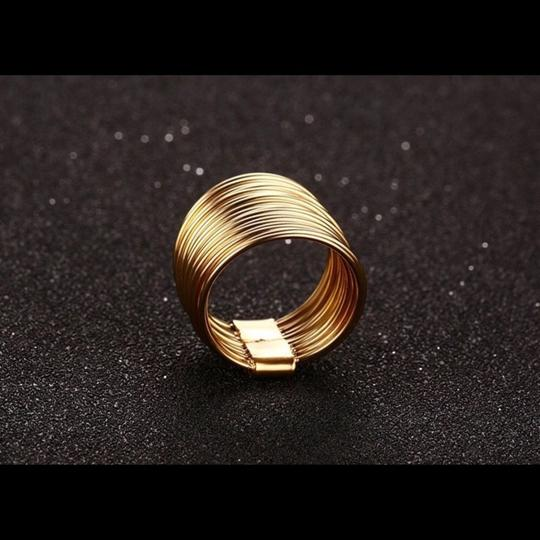 Queen Esther Etc Ladies Fashion Delicate Layered Circle Ring Image 1
