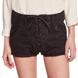 One Teaspoon Cuffed Shorts Black Panther