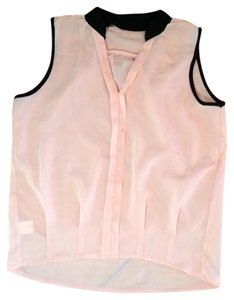 New Size Small Sleeveless Top pink, black