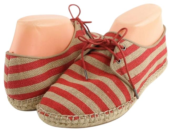 Eileen Fisher Tulip Stripe Step Canvas Oxford Lace Flats Size US 8 Regular (M, B) Eileen Fisher Tulip Stripe Step Canvas Oxford Lace Flats Size US 8 Regular (M, B) Image 1