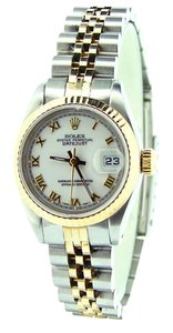 Rolex Ladies Rolex Two-Tone 18K/SS Datejust White Roman 69173