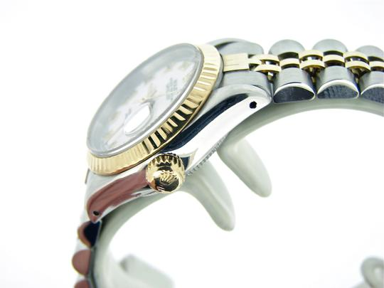 Rolex Ladies Rolex Two-Tone 18K/SS Datejust White Roman 69173 Image 2