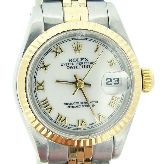 Rolex Ladies Rolex Two-Tone 18K/SS Datejust White Roman 69173 Image 3