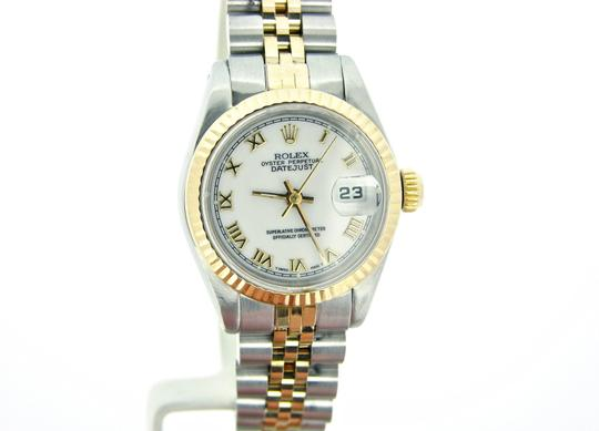 Rolex Ladies Rolex Two-Tone 18K/SS Datejust White Roman 69173 Image 5