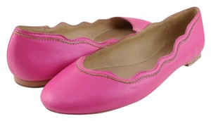 Juicy Couture Leather Round Toe Designer Pink Flats