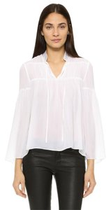 Alice + Olivia Isabel Marant Tibi Zimmermann Tory Burch Lover Top White