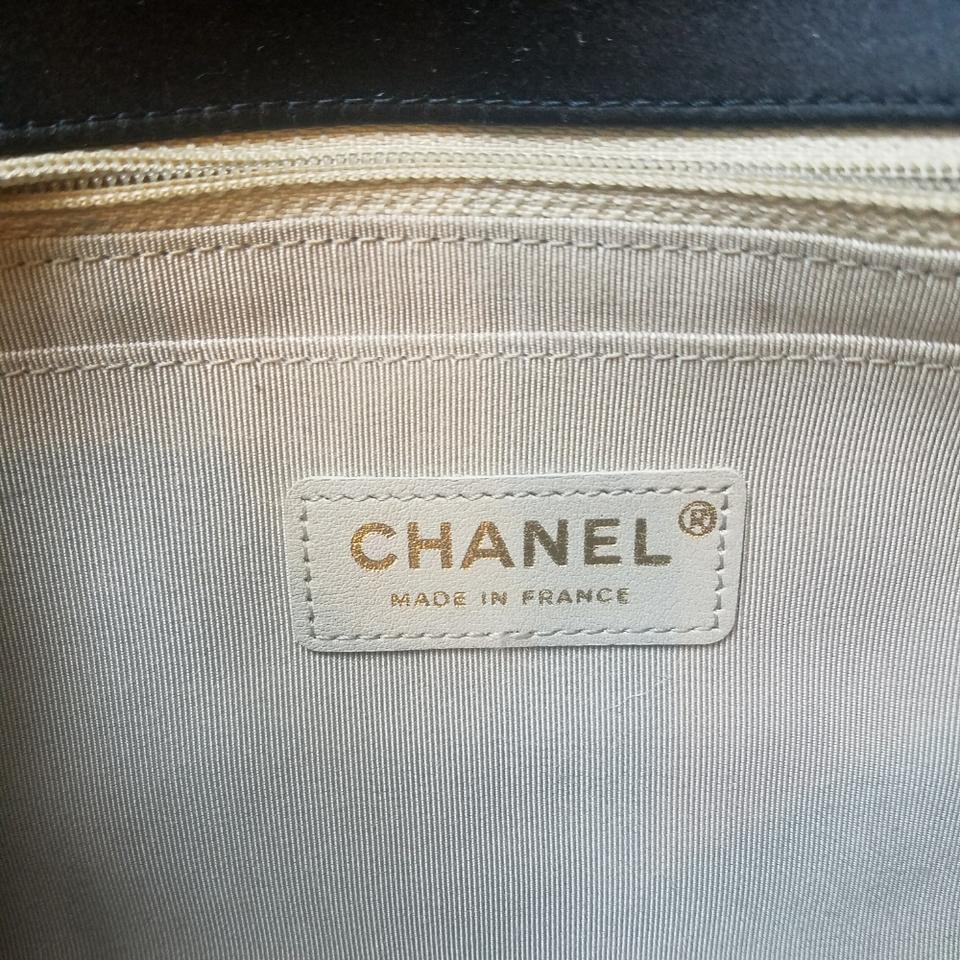 9f6ceaab125a Chanel Classic Medium Black Stain Flap with Tan Stitching Satin Shoulder Bag  - Tradesy