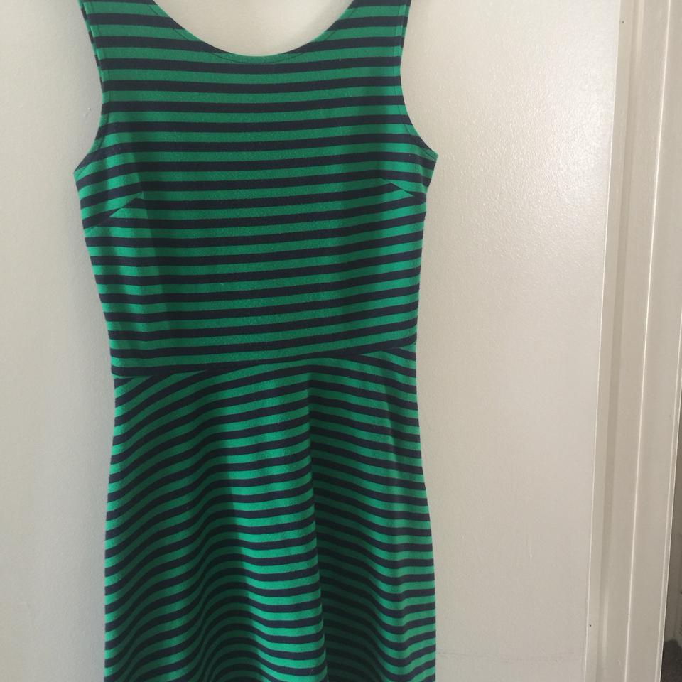 5e70d70233 American Eagle Outfitters Green Skater Short Casual Dress Size 6 (S ...
