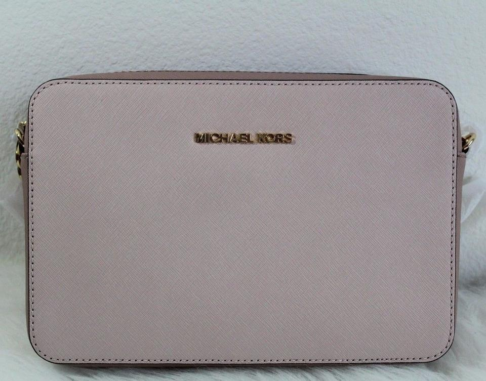 ab8df3fc5f9c Michael Kors Jet Set Travel Large East/West Soft Pink/Fawm Leather ...