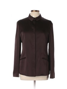 Armani Collezioni Satin Jacket Top Brown/Plum