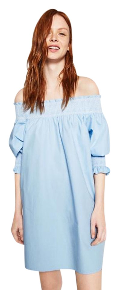 release info on reasonable price cost charm Zara Light Blue Rn 77302 Short Casual Dress Size 4 (S)