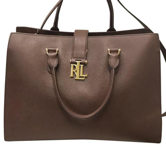 3036759e42db Ralph Lauren Carrington Brigitte Tote Brown Leather Satchel - Tradesy