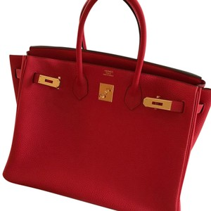 Hermès Satchel in Rouge Tomate