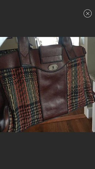 Fossil Vri Vintage Revival Vintage Reissue Weekender Satchel in Brown, Multi