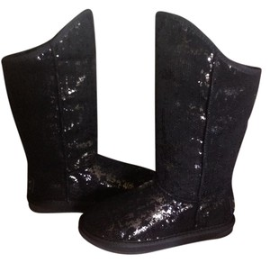 Australia Luxe Collective Tall Shearling Lining Black Sequin Boots