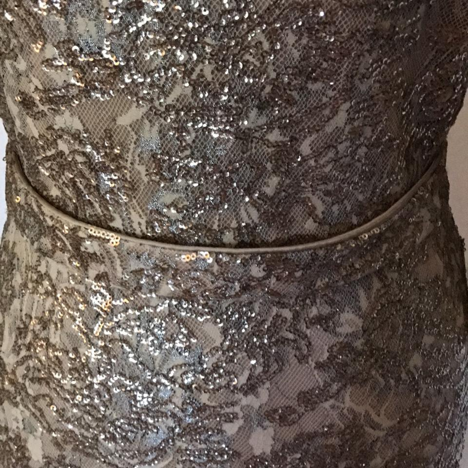 David Meister Gold Lace Gown Long Formal Dress Size 8 (M) - Tradesy