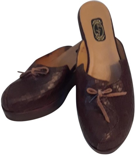 Salpy Brown crackle Mules