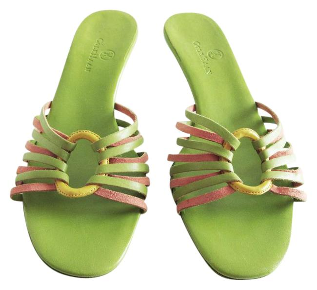 Item - Multi-color Leather O Ring Strappy Low Sandals Size US 8 Regular (M, B)
