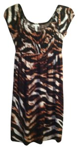 Soma Intimates short dress brown print Size S on Tradesy