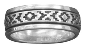 Other Sterling Silver Santa Fe Design Spin Ring