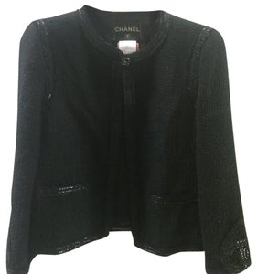 Chanel Size 40 Black Jacket