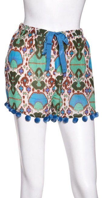 Item - Green & Printed Woven Shorts Size 8 (M, 29, 30)