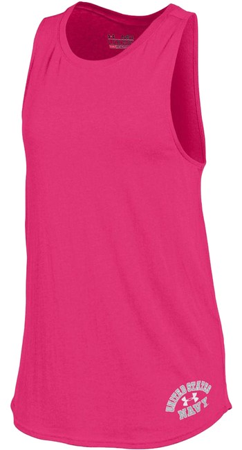 Under Armour Pink Women's Us Navy Cut Out Small Activewear Top Size 10 (M, 31) Under Armour Pink Women's Us Navy Cut Out Small Activewear Top Size 10 (M, 31) Image 1