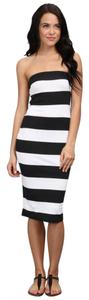 Hurley short dress Black and white Coco Small Tube on Tradesy