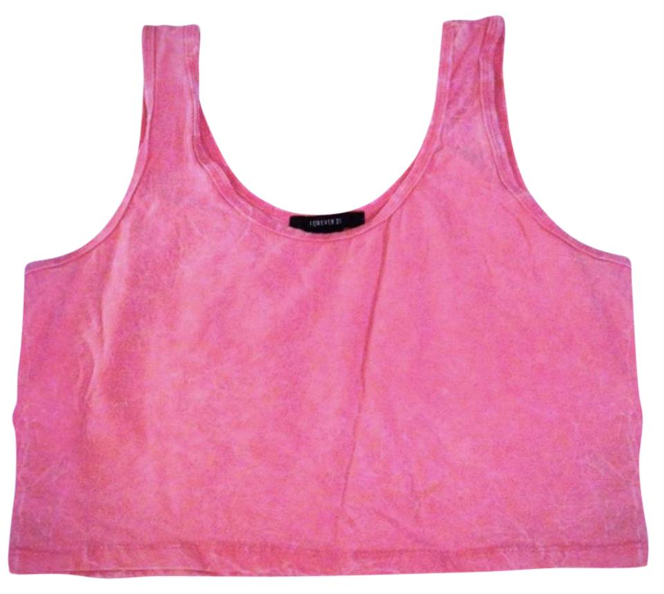 3157cf9efc52a Forever 21 Coral Cropped Tank Top Cami Size Petite 12 (L) - Tradesy