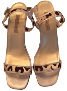 Ann Marino ivory and brown leopard Sandals