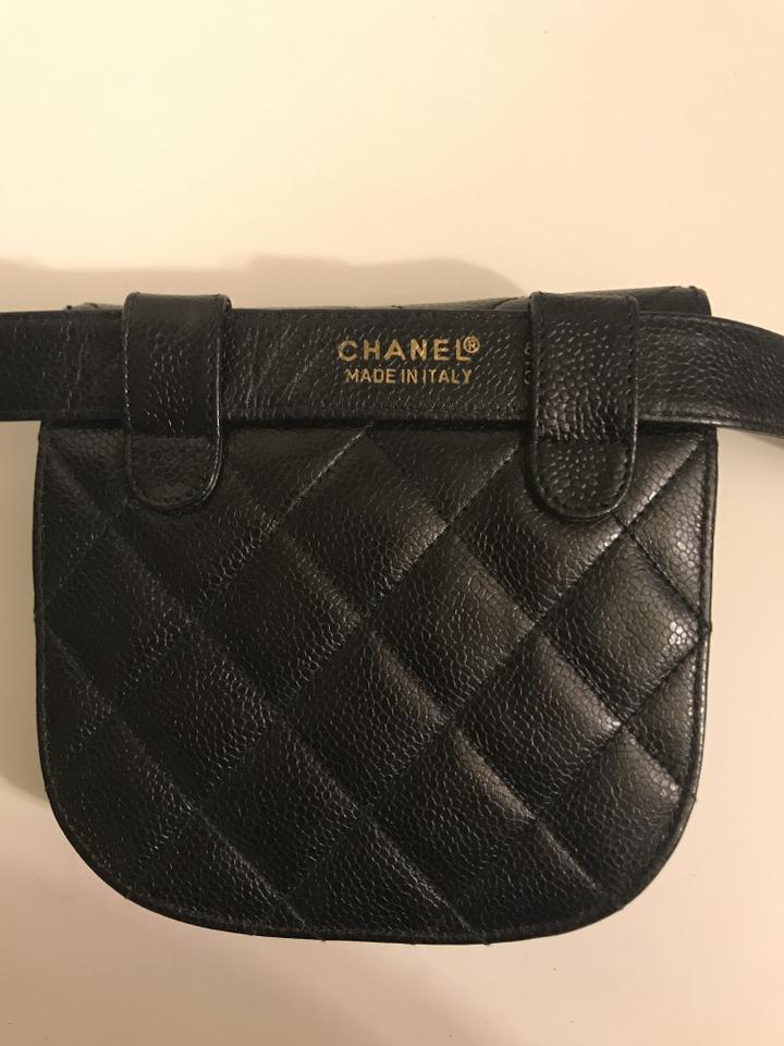 8390d7c20d55 Chanel Bum Waist With Belt Black Leather Weekend/Travel Bag - Tradesy