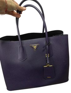 Prada Saffiano Cuir Tote in Purple