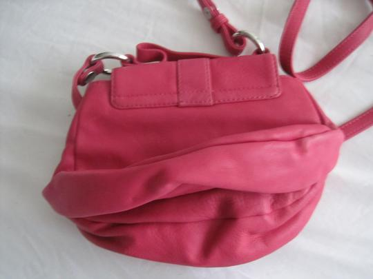 Diesel Fuschia Leather Silver Accents Snap Close Cross Body Shoulder Bag Image 6
