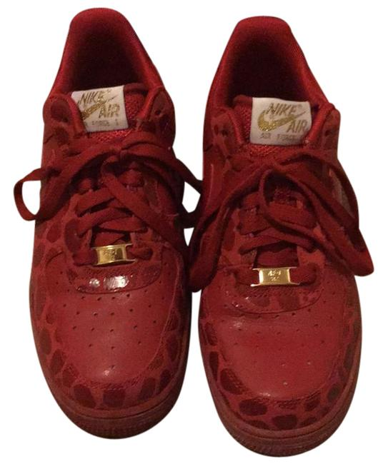 Item - Red with Metallic Gold Womens Air Force 1 '07 Sneakers Size US 8 Regular (M, B)