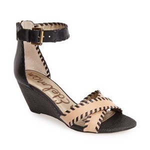 Sam Edelman Black and Tan Sandals