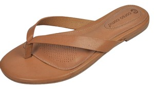 Ballasox by Corso Como Thong Leather Padded Comfortable Tan Sandals