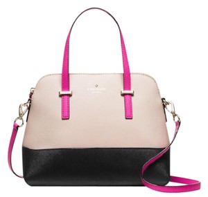 Kate Spade Cameron Street Little Babe Maise Satchel in pink beige black