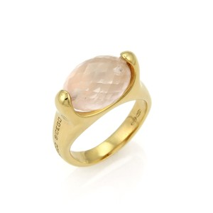 Marco Bicego Briolette Rose Quartz 18k Yellow Gold Ring