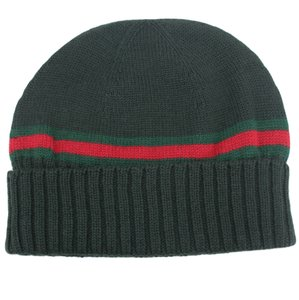 Gucci GUCCI 294731 Men's Wool with Web Detail Beanie Hat L