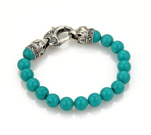Stephen Webster London Calling 9.5mm Turquoise Bead Sterling Silver Bracelet