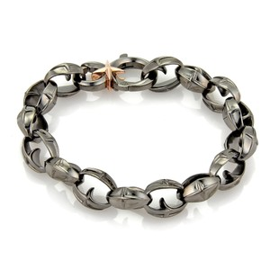 Stephen Webster Highwayman Mens Sterling Black Rhodium Bracelet