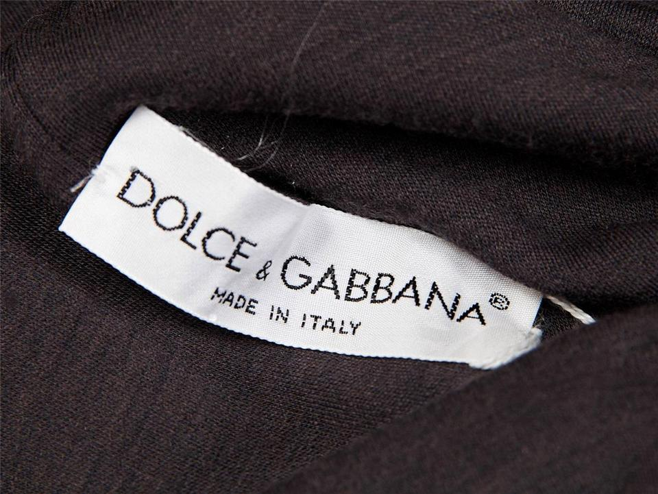 6d42d921577 Dolce Gabbana Brown Wool Knit Strapless Gathered Tube Long Casual ...
