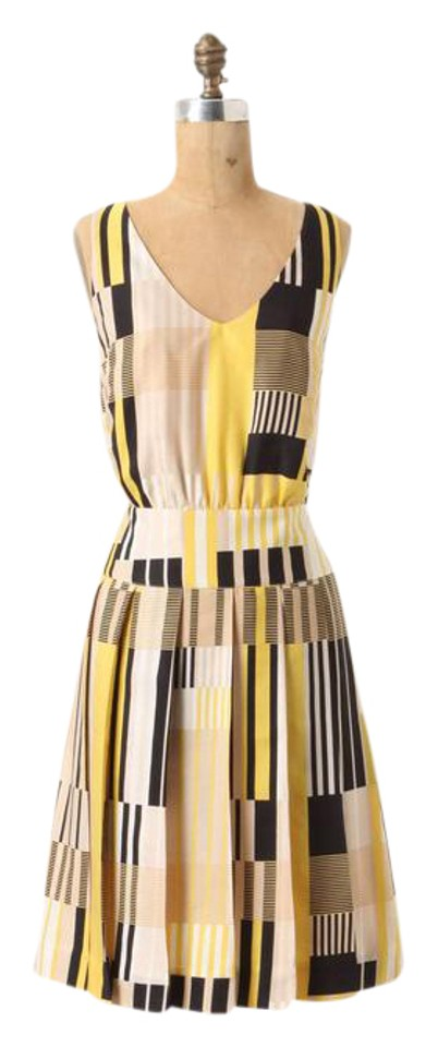 1589358be982a Anthropologie short dress YELLOW MULTI Otta Maeve Pleated on Tradesy Image  0 ...