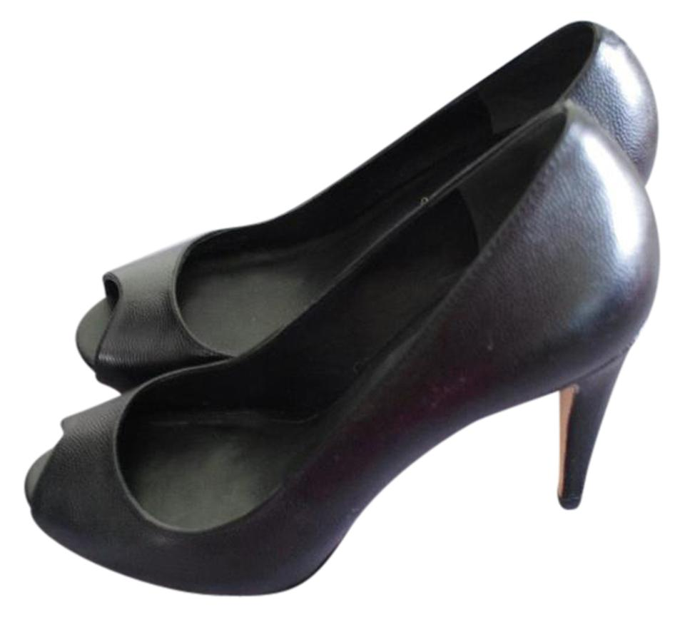 546ad9a7df58 Cole Haan Black Leather Nike Air Heels Open Toe Women Pumps Size US ...