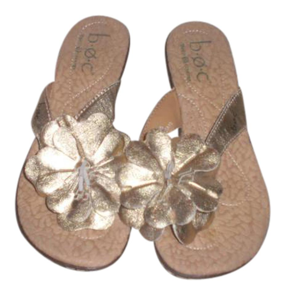 4526783dd969 B.O.C. Gold Born Concepts Leather Thong Sandals Size US 6 Regular (M ...