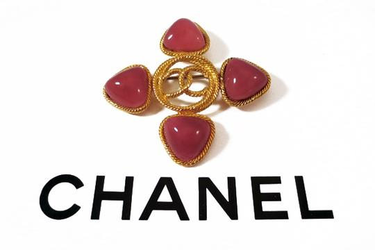 Chanel Authentic Chanel 1993 Vintage Candy Coral Pink Gripoix CC Brooch Pin CHANEL GLAM