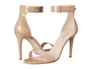 Kate Spade Nude Ankle Strap Patent Leather Beige Sandals