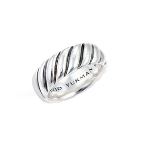 David Yurman 20473 - David Yurman Sterling Silver 8mm Wide Cable Band Ring