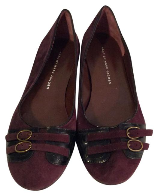 Item - Purple Suede and Leather Flats Size US 8.5 Regular (M, B)