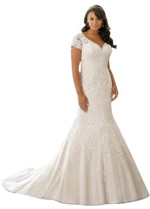 Mori Lee Fitted Bridal Lace Sleeve Dress
